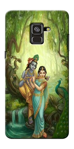 Radha Krishna Paint Design Printed Designer Back Case Cover For Samsung Galaxy A8 Plus 2018