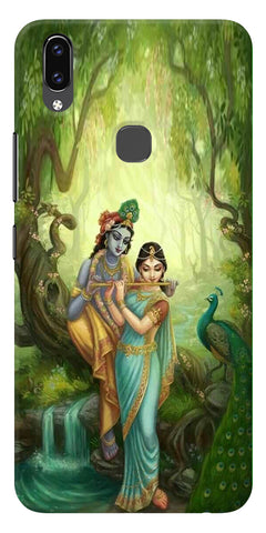 Radha Krishna Paint Design Printed Designer Back Case Cover For Vivo V9