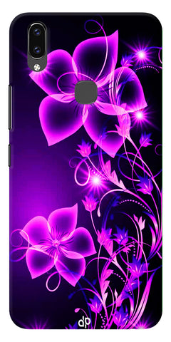 Pink Flower Printed Designer Back Case Cover For Vivo V9