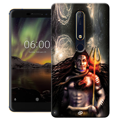 Digiprints Shiva Printed Designer Back Case Cover For Nokia 6.1(2018)