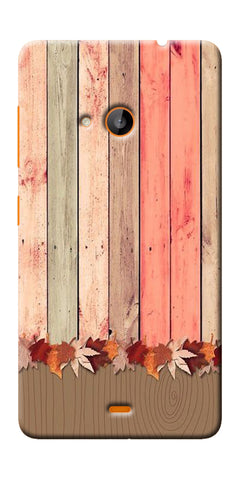 Digiprints Spring Wooden Art Printed Designer Back Case Cover For Microsoft Lumia 540