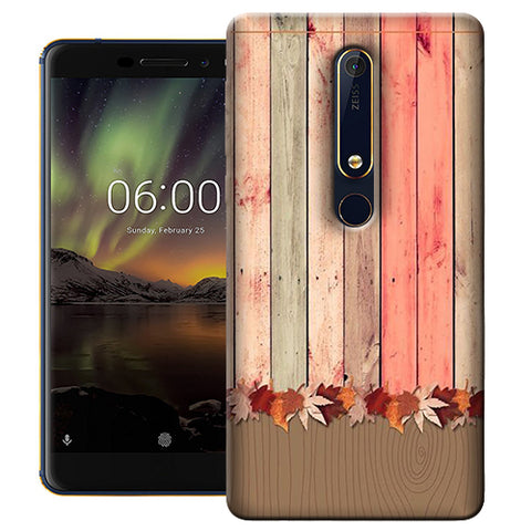 Digiprints Spring Wooden Art Printed Designer Back Case Cover For Nokia 6.1(2018)