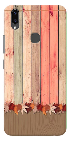 Spring Wooden Art Printed Designer Back Case Cover For Vivo V9