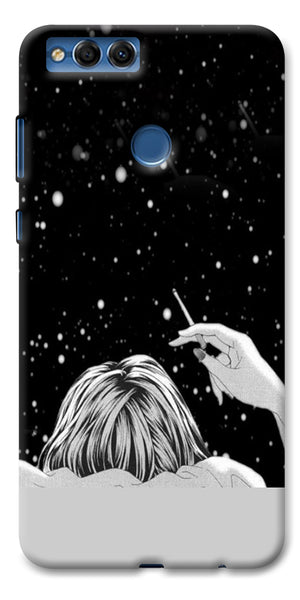 Digiprints Relaxing In The Night Printed Designer Back Case Cover For Huawei Honor 7X