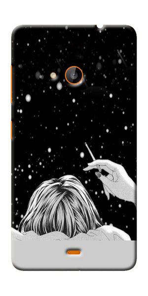 Digiprints Relaxing In The Night Printed Designer Back Case Cover For Microsoft Lumia 540