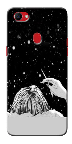 Digiprints Relaxing In The Night Printed Designer Back Case Cover For Oppo F7