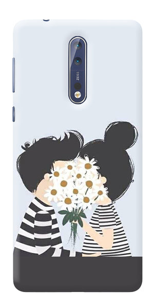 Digiprints Beautiful Love Design Printed Designer Back Case Cover For Nokia 8