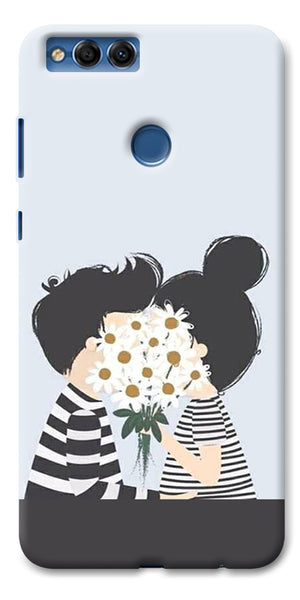 Digiprints Beautiful Love Design Printed Designer Back Case Cover For Huawei Honor 7X
