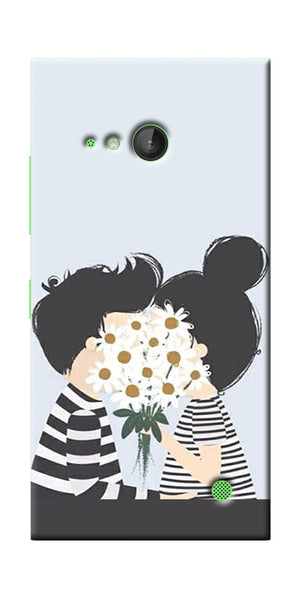 Digiprints Beautiful Love Design Printed Designer Back Case Cover For Microsoft Lumi730