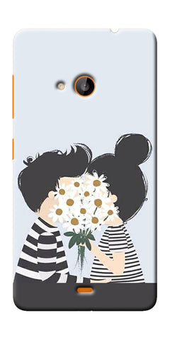 Digiprints Beautiful Love Design Printed Designer Back Case Cover For Microsoft Lumia 540