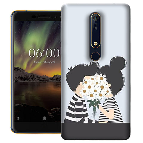 Digiprints Beautiful Love Design Printed Designer Back Case Cover For Nokia 6.1(2018)