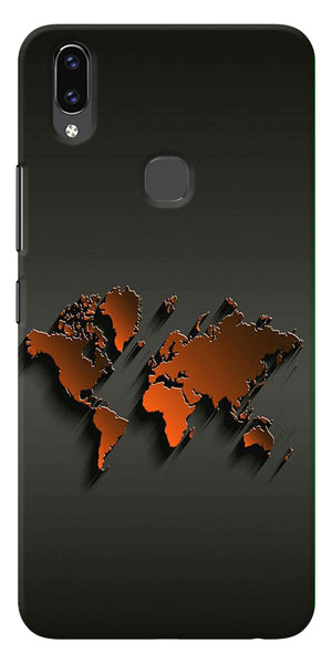 World Map Art Design Printed Designer Back Case Cover For Vivo V9