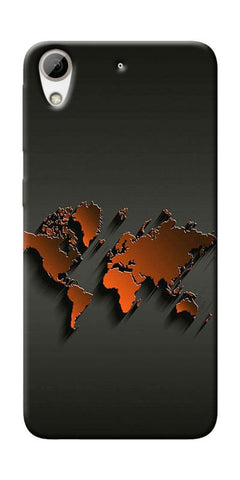 World Map Art Design Printed Designer Back Case Cover For HTC Desire 626