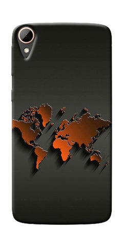 World Map Art Design Printed Designer Back Case Cover For HTC Desire 828