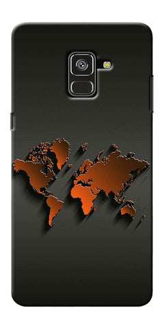 World Map Art Design Printed Designer Back Case Cover For Samsung Galaxy A8 Plus 2018