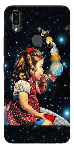 Girl Bowing Planets Printed Designer Back Case Cover For Vivo V9