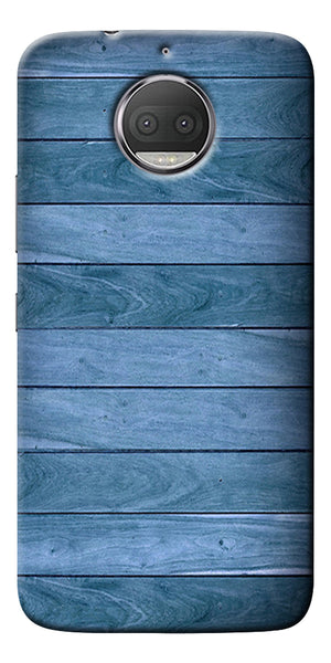 Blue Wooden Design Printed Designer Back Case Cover For Motorola Moto G5S Plus