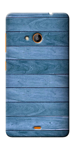 Digiprints Blue Wooden Design Printed Designer Back Case Cover For Microsoft Lumia 540