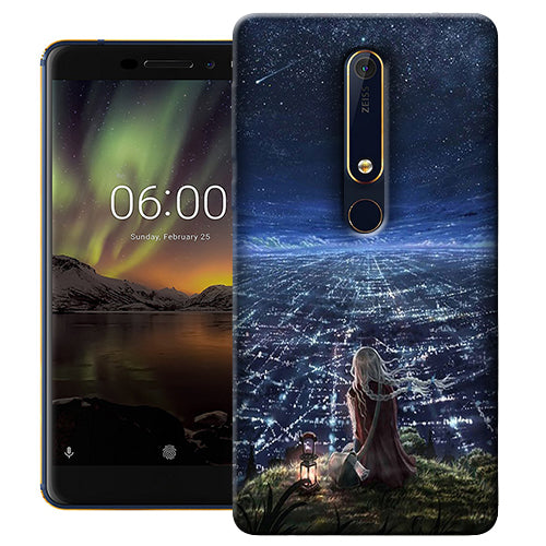 Digiprints Star City Design Printed Designer Back Case Cover For Nokia 6.1(2018)