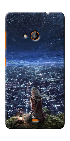Digiprints Star City Design Printed Designer Back Case Cover For Microsoft Lumia 540