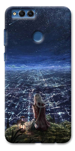Digiprints Star City Design Printed Designer Back Case Cover For Huawei Honor 7X