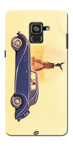 Vintage Car Printed Designer Back Case Cover For Samsung Galaxy A8 Plus 2018