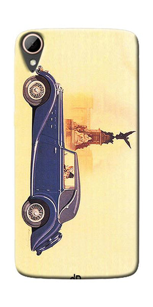 Vintage Car Printed Designer Back Case Cover For HTC Desire 828