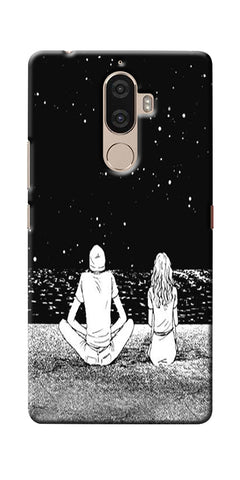 Digiprints Couple In The Space Printed Designer Back Case Cover For Lenovo K8 Plus