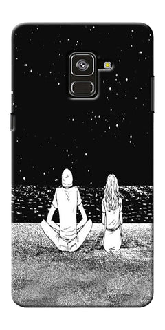 Couple In The Space Printed Designer Back Case Cover For Samsung Galaxy A8 Plus 2018