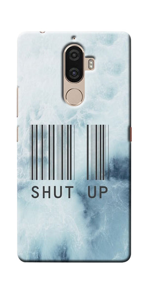 Digiprints Shut Up With Barcode Printed Designer Back Case Cover For Lenovo K8 Plus