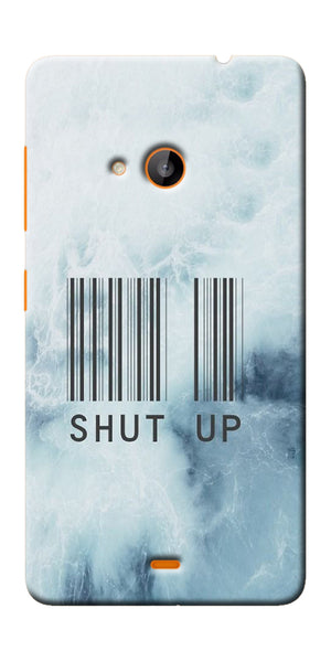 Digiprints Shut Up With Barcode Printed Designer Back Case Cover For Microsoft Lumia 540