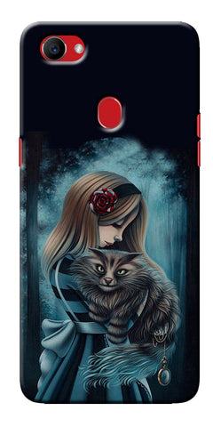 Digiprints Kitty Art Painting Design Printed Designer Back Case Cover For Oppo F7