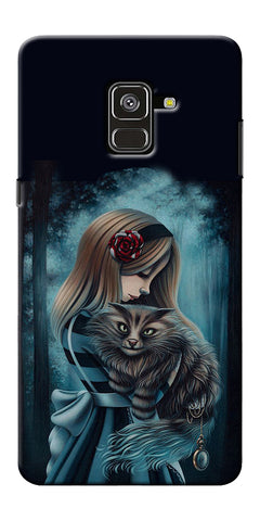 Kitty Art Painting Design Printed Designer Back Case Cover For Samsung Galaxy A8 Plus 2018