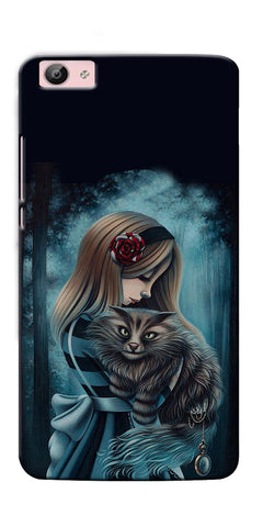 Digiprints Kitty Art Painting Design Printed Designer Back Case Cover For Vivo V5 Plus
