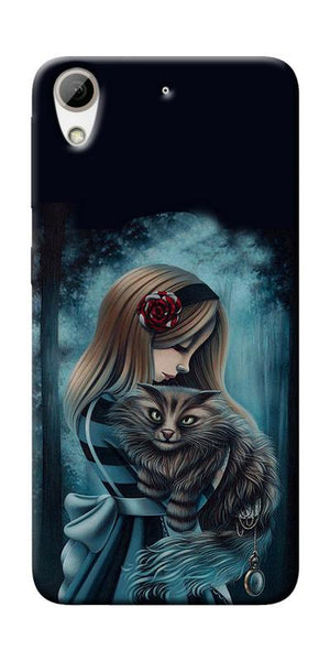 Kitty Art Painting Design Printed Designer Back Case Cover For HTC Desire 626