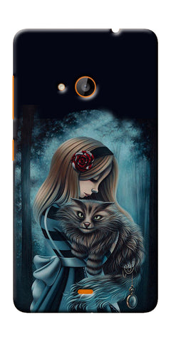 Digiprints Kitty Art Painting Design Printed Designer Back Case Cover For Microsoft Lumia 540