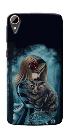 Kitty Art Painting Design Printed Designer Back Case Cover For HTC Desire 828