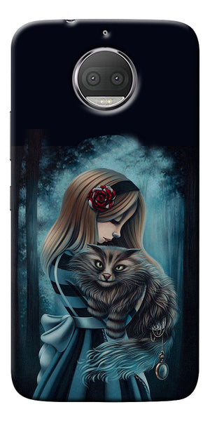 Kitty Art Painting Design Printed Designer Back Case Cover For Motorola Moto G5S Plus