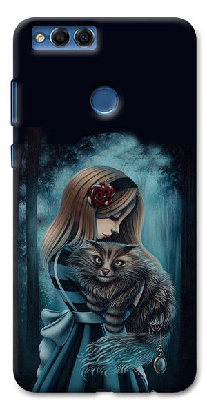 Digiprints Kitty Art Painting Design Printed Designer Back Case Cover For Huawei Honor 7X