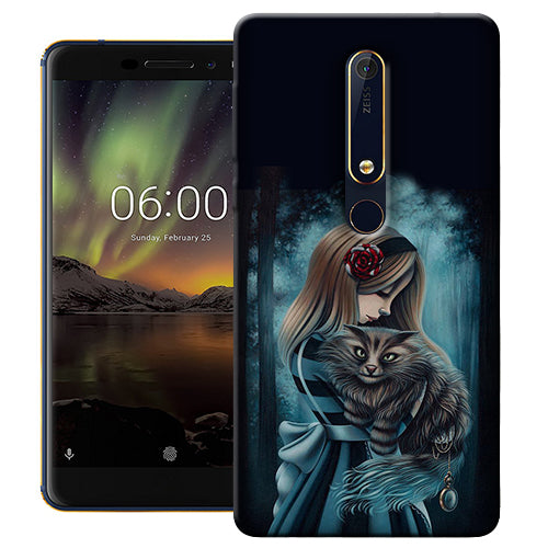 Digiprints Kitty Art Painting Design Printed Designer Back Case Cover For Nokia 6.1(2018)