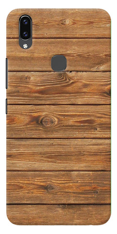 Brown Wooden Pattern Printed Designer Back Case Cover For Vivo V9