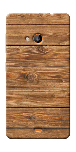 Digiprints Brown Wooden Pattern Printed Designer Back Case Cover For Microsoft Lumia 540