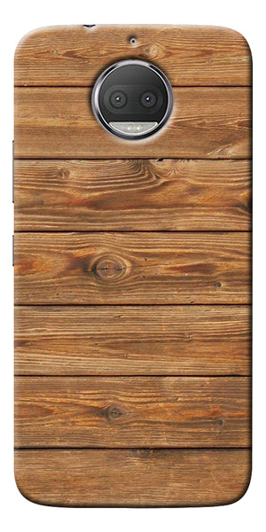 Brown Wooden Pattern Printed Designer Back Case Cover For Motorola Moto G5S Plus