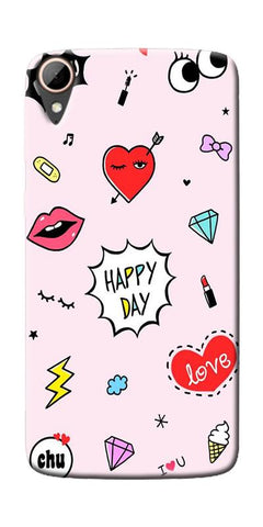 Girly Love Collage Printed Designer Back Case Cover For HTC Desire 828