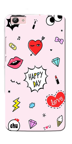 Digiprints Girly Love Collage Printed Designer Back Case Cover For Vivo V5 Plus