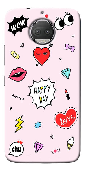 Girly Love Collage Printed Designer Back Case Cover For Motorola Moto G5S Plus