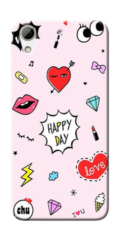Girly Love Collage Printed Designer Back Case Cover For HTC Desire 626