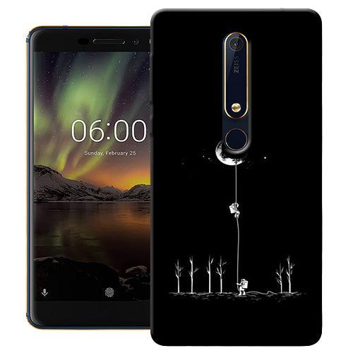 Digiprints Climbing The Moon Printed Designer Back Case Cover For Nokia 6.1(2018)