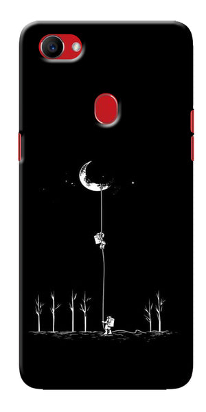 Digiprints Climbing The Moon Printed Designer Back Case Cover For Oppo F7
