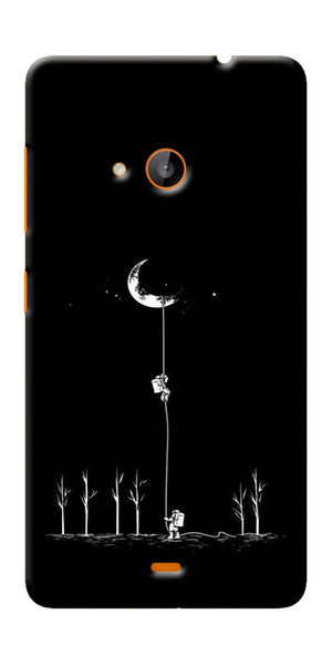 Digiprints Climbing The Moon Printed Designer Back Case Cover For Microsoft Lumia 540